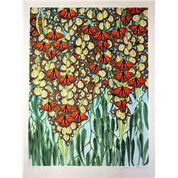 Cristine Avenue  Butterfly's  Hand Signed Limited Ed. Serigraph