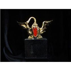 Dali Limited Edition 24K Gold Layered Sculpture - Winged Swan for Bacchanale Ballet