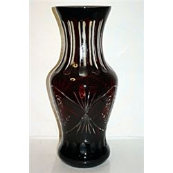 Ruby Crystal Flow Vase