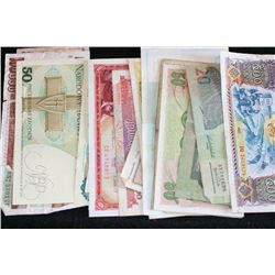 Foreign Bank Note, various dates & conditions, lot of 20