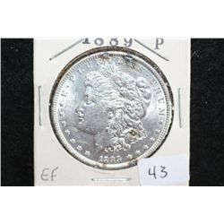 1889 Silver Morgan $1, EF