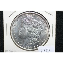 1896 Silver Morgan $1, MS63