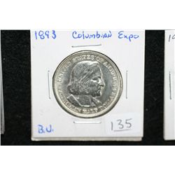 1893 US Columbian half dollar, Columbian Expo, BU