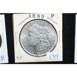 1889 Silver Morgan $1, VF