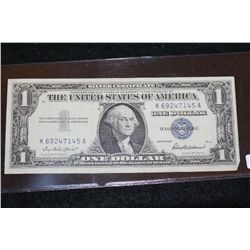 1957 US Silver Certificate $1, Blue Seal, #K69247145A