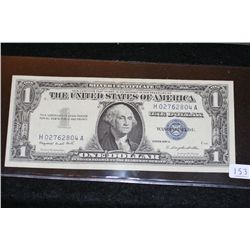 1957-A US Silver Certificate $1, Blue Seal, #H02762804A