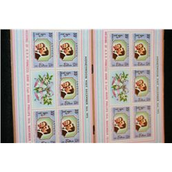 1973 Honeymoon Dec 1973, 35 cent Princess Anne & Capt Mark Phillips Antigua postal stamps, lot of 10