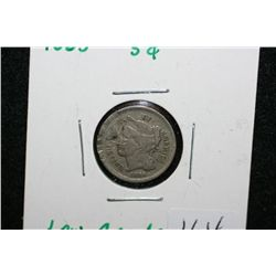 1865 Three Cent Piece, low grade