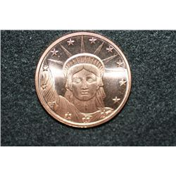 2011 Copper Round, .999 fine 1 oz.