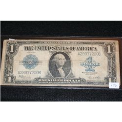 1923 US Silver Certificate Lrg $1, Blue Seal, #A28977200B