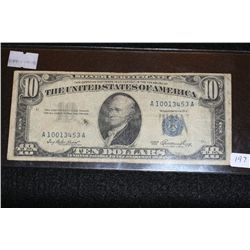 1953 US Silver Certificate $10, Blue Seal, #A10013453A