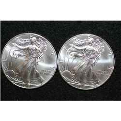 2012 Silver Eagle $1, lot of 2