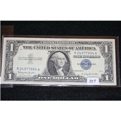 1957-B US Silver Certificate $1, Blue Seal, #R24877884A