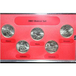 2003-D US Mint quarter set