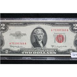 1953-C US Note $2, Red Seal, #A75395368A