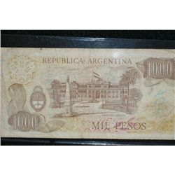 Banco Central de la Republica Argentina 1000 Mil Pesos Foreign Bank Note