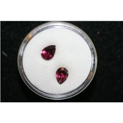 Magenta Stones loose, lot of 2