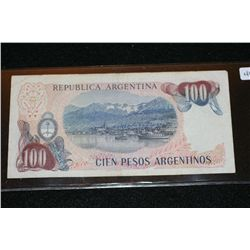 Republica Argentina 100 Cien Pesos Argentinos Foreign Bank Note