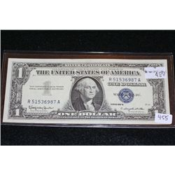 1957-B US Silver Certificate $1, Blue Seal, #R51536987A