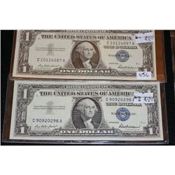 1957 US Silver Certificate $1, Blue Seal, #C10114087A & 1957 US Silver Certificate $1, Blue Seal, #C