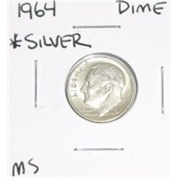 1964 Roosevelt MS GRADE *SILVER* Dime!!