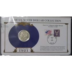 1921 Morgan Silver Dollar  The U.S. Silver Collection  *COMES WITH MORGAN SILVER DOLLAR & STAMP IN P
