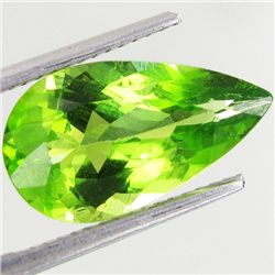 4.1ct Clean Green Peridot Pear  (GEM-42863)