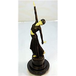 Signed Chiparus Bronze and Ivory - Footsteps