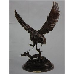 """Owl"" Monumental Bronze Sculpture - Moigniez"