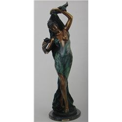 """Dancer Of Flowers"" Bronze Sculpture - Caragieli"