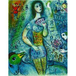 "Marc Chagall ""Circus Fan Dancer"""