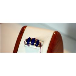 Unisex Lapis 18 K Yellow Gold