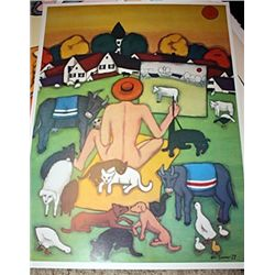 Bathing- Limited Edition Signed Lithograph - Sommer