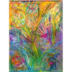 Anne Boysen, Celebration II, Signed Canvas Print