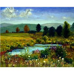Anne Boysen, Pond at Herrick, Signed Canvas Print