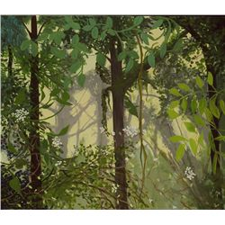 Anne Boysen, Sunny Mist, Signed Oil on Canvas