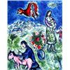 Chagall &quot;Sur La Route De Village&quot; Ltd Edition Litho, W/COA, 34&quot;x24&quot;