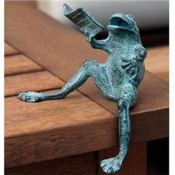 Reading Frog Sculpture