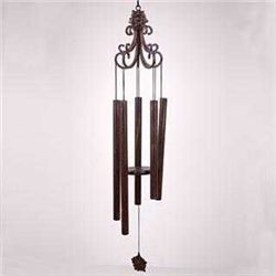 Scroll Wind Chime With Flower