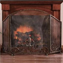 Fleur De Lis Fireplace Screen