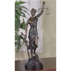Lady Of Justice Bronze Sculpture