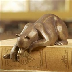 Bear With Fish Shelf Sitter