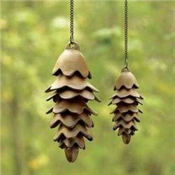 Pair Of Pinecone Wind Chimes