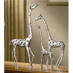 Set Of Giraffe Family Sculptures