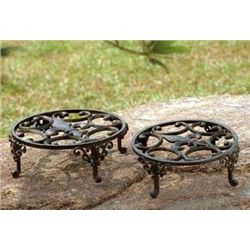 Fleur De Lis Plant Stands - Set Of Two