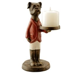 Bulldog Jockey Candle Holder