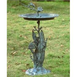 Turtle &amp; Fish Sundial Birdbath