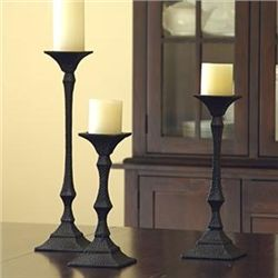 Set Of 3 Richmond Pillar Candle Sticks