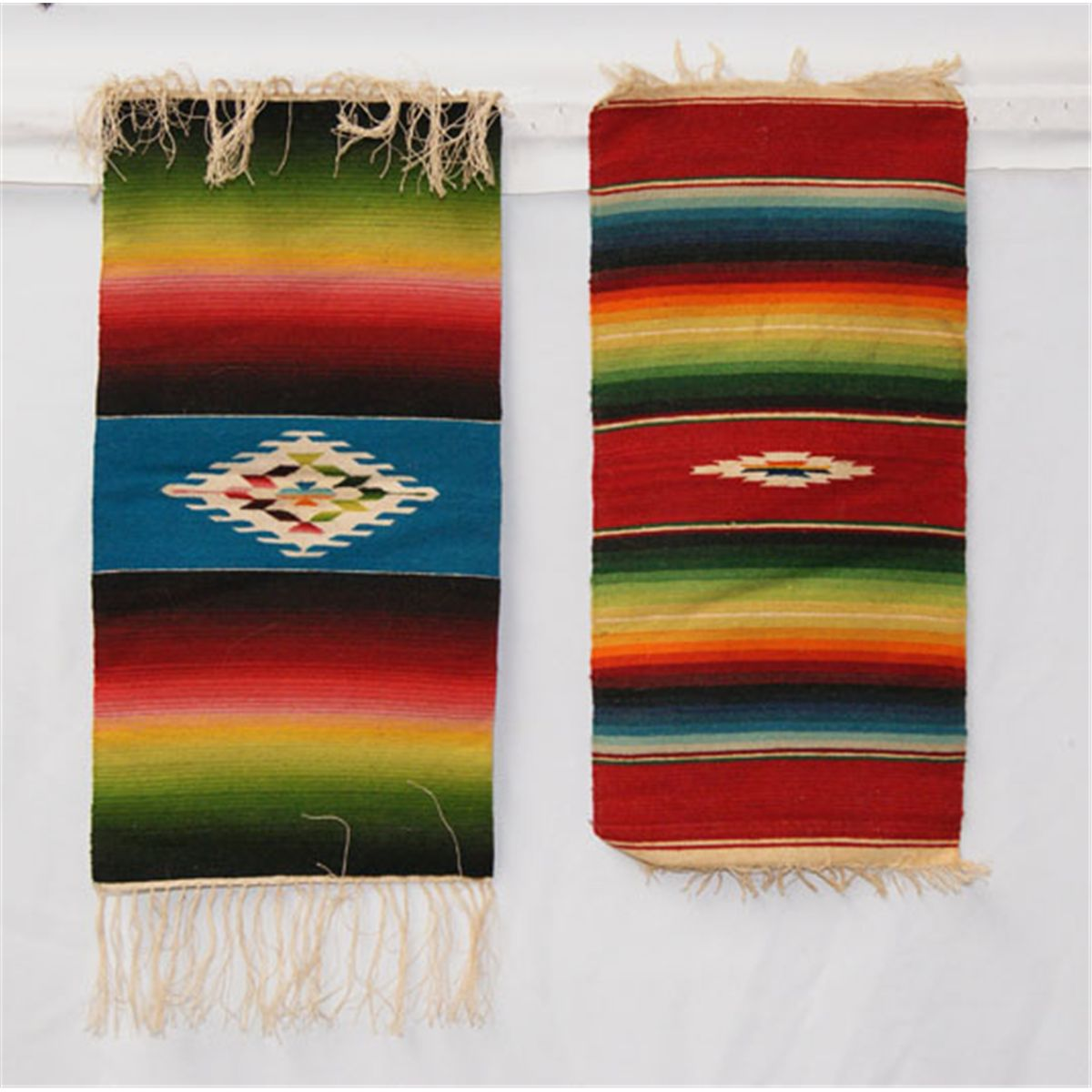 TWO MINIATURE MEXICAN TEXTILES