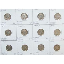 (12X The Bid) Early Buffalo Nickels.